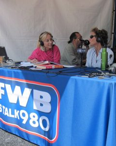 KFWB live broadcast Susan Irby Gallery